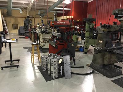 Custom machine shop at Butler Performance
