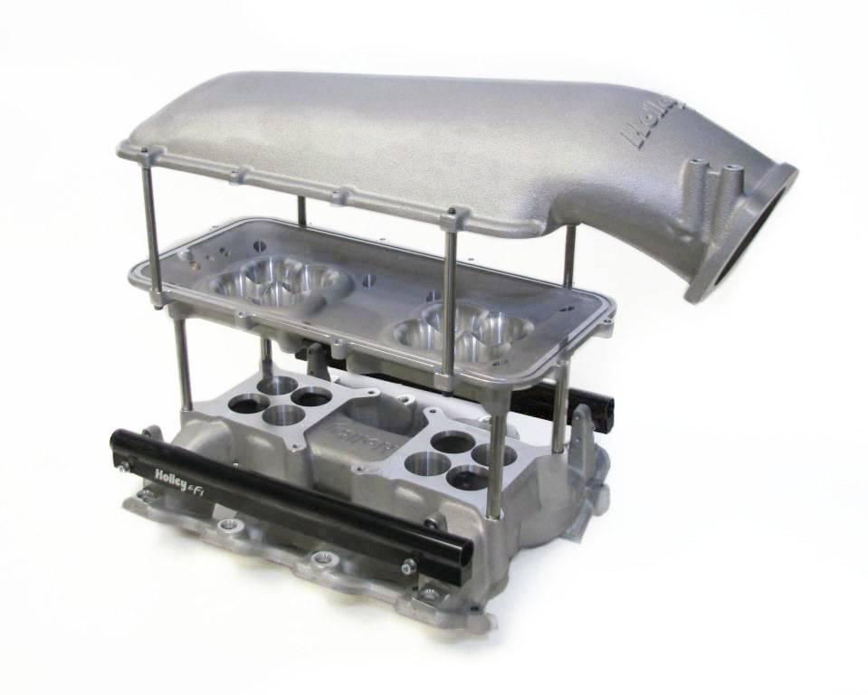 Holley GM/LS EFI Mid-Rise Intake Manifold, LS1, LS2, LS6