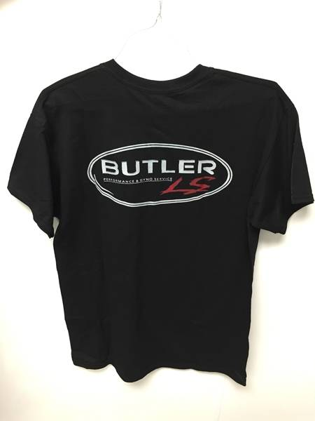 Butler LS - Butler BLS-TS-MED - LS Black Short Sleeve T-shirt, Medium, Each