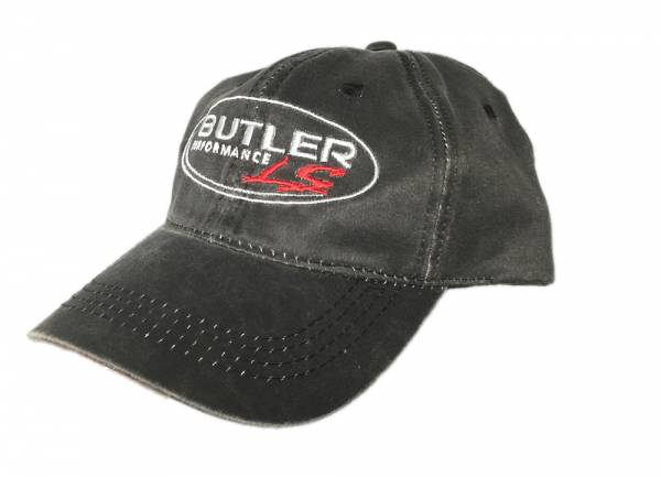 Butler LS - Butler BLS-HAT#1 - LS Hat, Black Distressed, One Size, Each