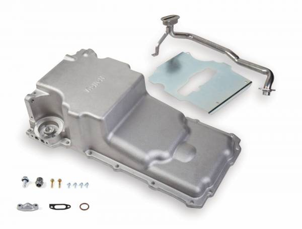Holley - Holley GM/LS Retro-fit Oil Pan, Cast