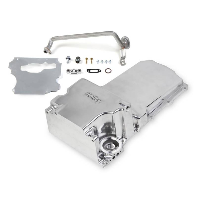 Holley - Holley GM/LS Retro-fit Oil Pan, Polished, OEM Style