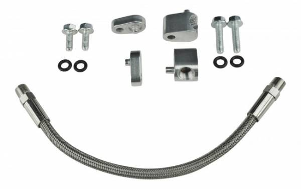 ICT - ICT Billet Coolant Crossover Hose Kit, Throttle Body Delete Hose