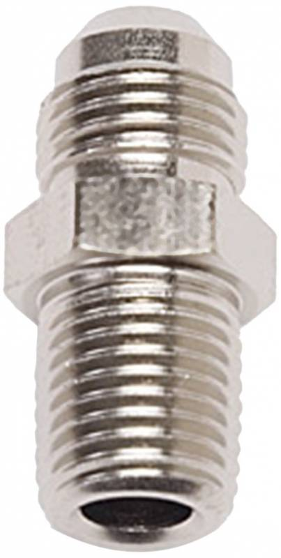 Russell - Russell AN to NPT Adapter Fitting, Endura Finish, -6 Flare X 1/4 NPT