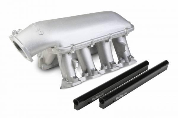 Holley - Holley GM/LS EFI Mid-Ram Intake Manifold, 105mm, LS3, L92, Black or Satin