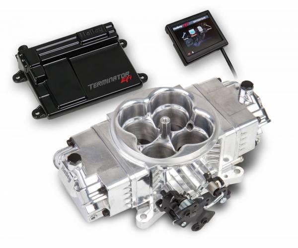 Holley - Holley Terminator Stealth, Polished, Self Tuning EFI, Kit