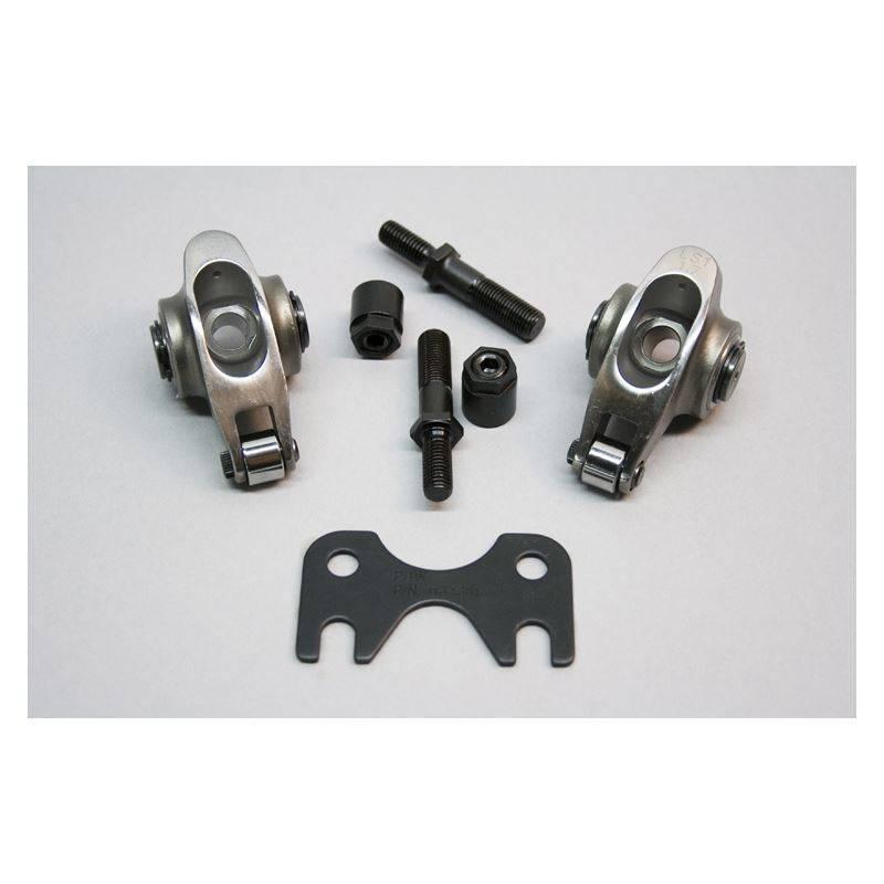 PRW - PRW GM/LS Adjustable Roller Rocker Arms, Cathedral Port, Set/16