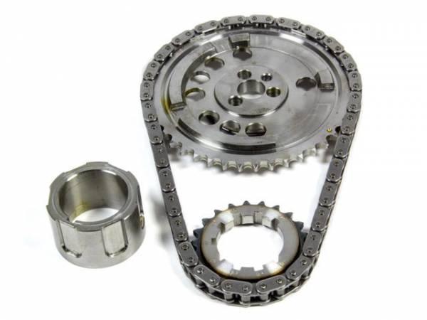 Rollmaster - Rollmaster Billet Single Roller Timing Set, 4X Cam Gear, For 3 Bolt Cam, LS3