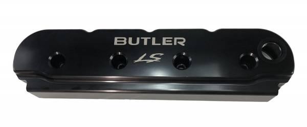 Butler LS - Billet Aluminum Valve Covers Laser Etched With Butler LS Logo Set/2