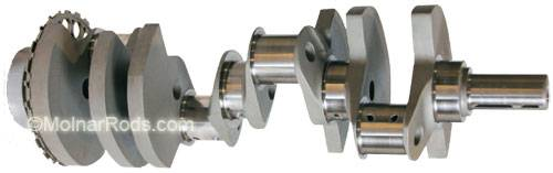 Molnar technologies - Molnar LS Crankshaft, 4.000 in Stroke, 24x reluctor