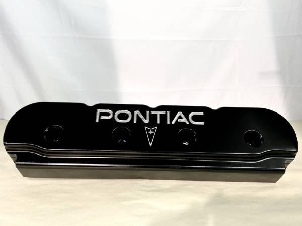 Butler LS - Billet Aluminum Valve Covers With Milled Pontiac Logo Set/2