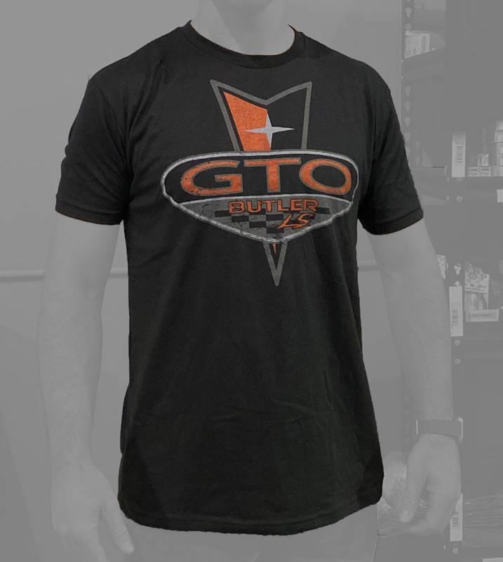 Butler LS - Butler LS Pontiac GTO T-Shirt, Black, Small-4XLBPI-TS-BP1616