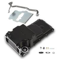 Engine Components- External - Oil Pans - Holley - Holley GM/LS Retro-fit Oil Pan, Black