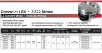Wiseco - WisecoLS1, LS2, LS3, LS6, LS7, L92, 6.0L, 3.622 Stroke, -11cc Dish Top Piston Kit, Choose Bore, Set/8 - Image 2