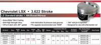 Wiseco - WisecoLS1, LS2, LS3, LS6, LS7, L92, 6.0L, 3.622 Stroke, -25cc Dish Top Piston Kit, Choose Bore, Set/8 - Image 2