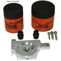 Engine Components- External - Oil Pan Accessories / Dipsticks - Milodon - Milodon LS bypass Oil Filter adapter, for Spin-on Filter, Each