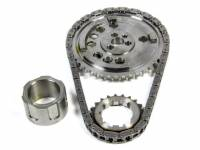 Rollmaster - Rollmaster Billet Single Roller Timing Set, 4X Cam Gear, For 3 Bolt Cam, LS3